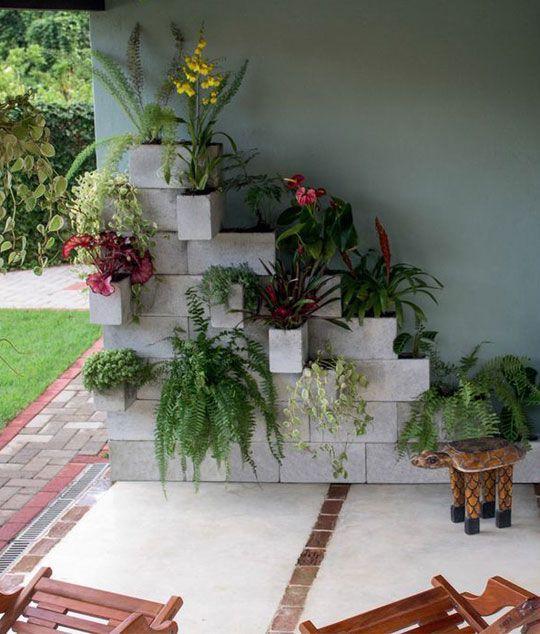 Ideas con bloques de cemento buscar con google for Jardineras con bloques