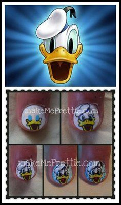 Disney donald duck. Nail designs.