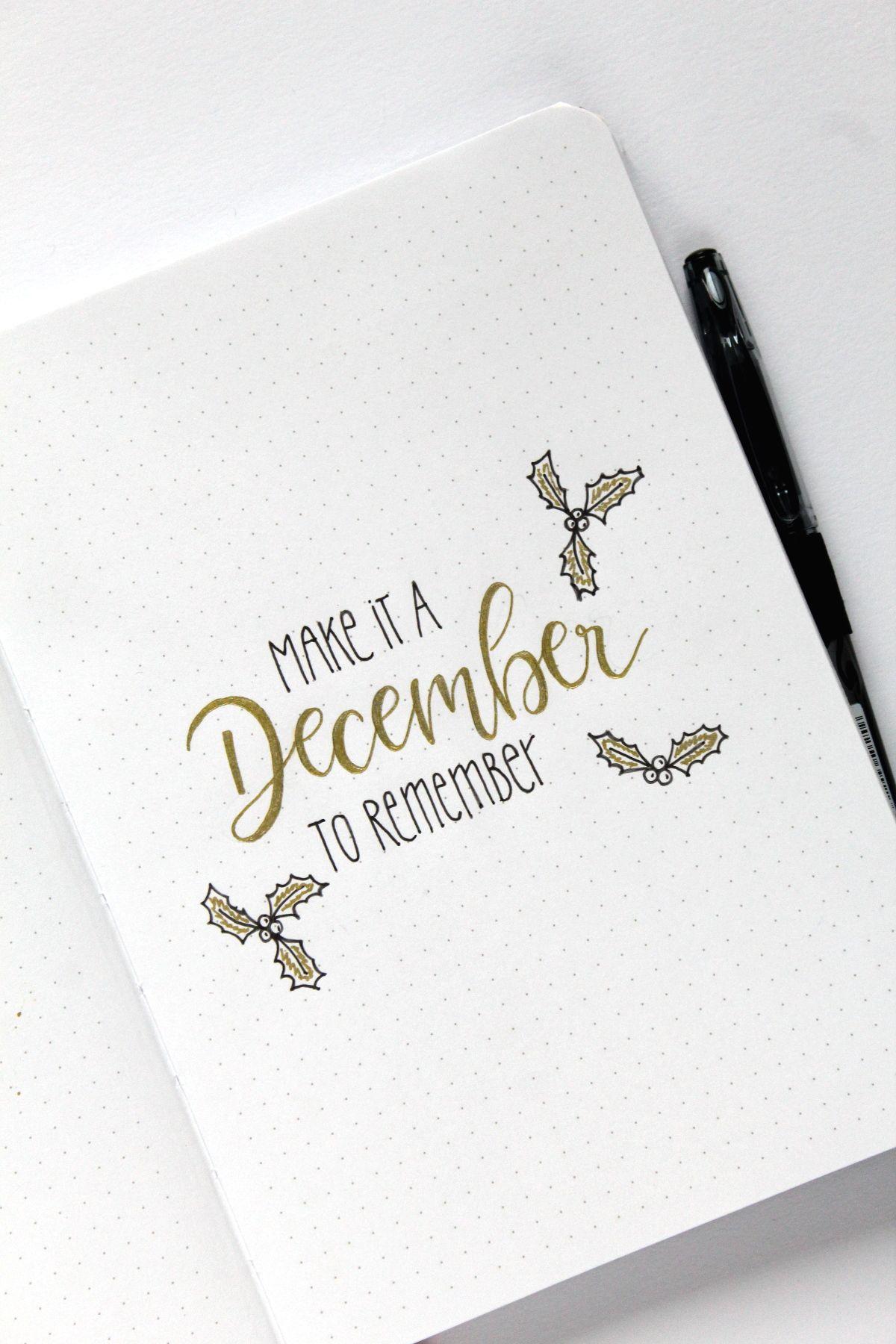 {Anzeige} Christmas Set-Up im pilot Bullet Journal #journaling