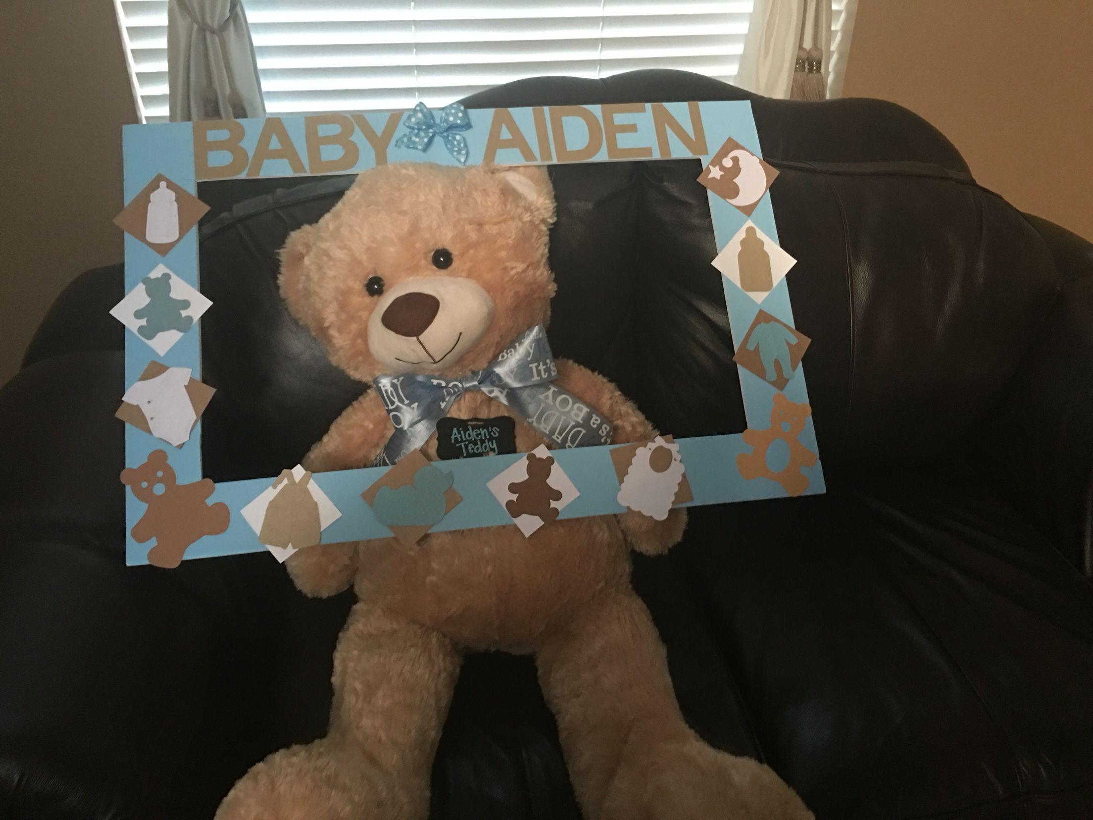 Teddy Bear Photo Prop Frame | Baby Shower | Pinterest | Babyshower ...
