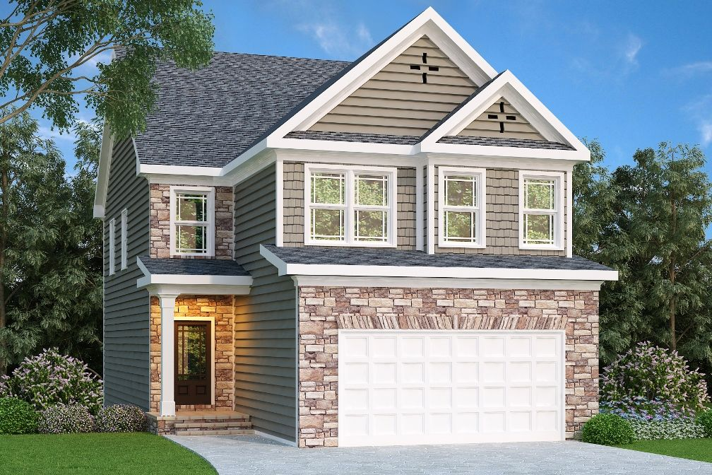 Narrow Lot Plan 2095 Square Feet 4 Bedrooms 2 Bathrooms Lyndhurst Narrow Lot House Plans Narrow House Plans Craftsman Style House Plans