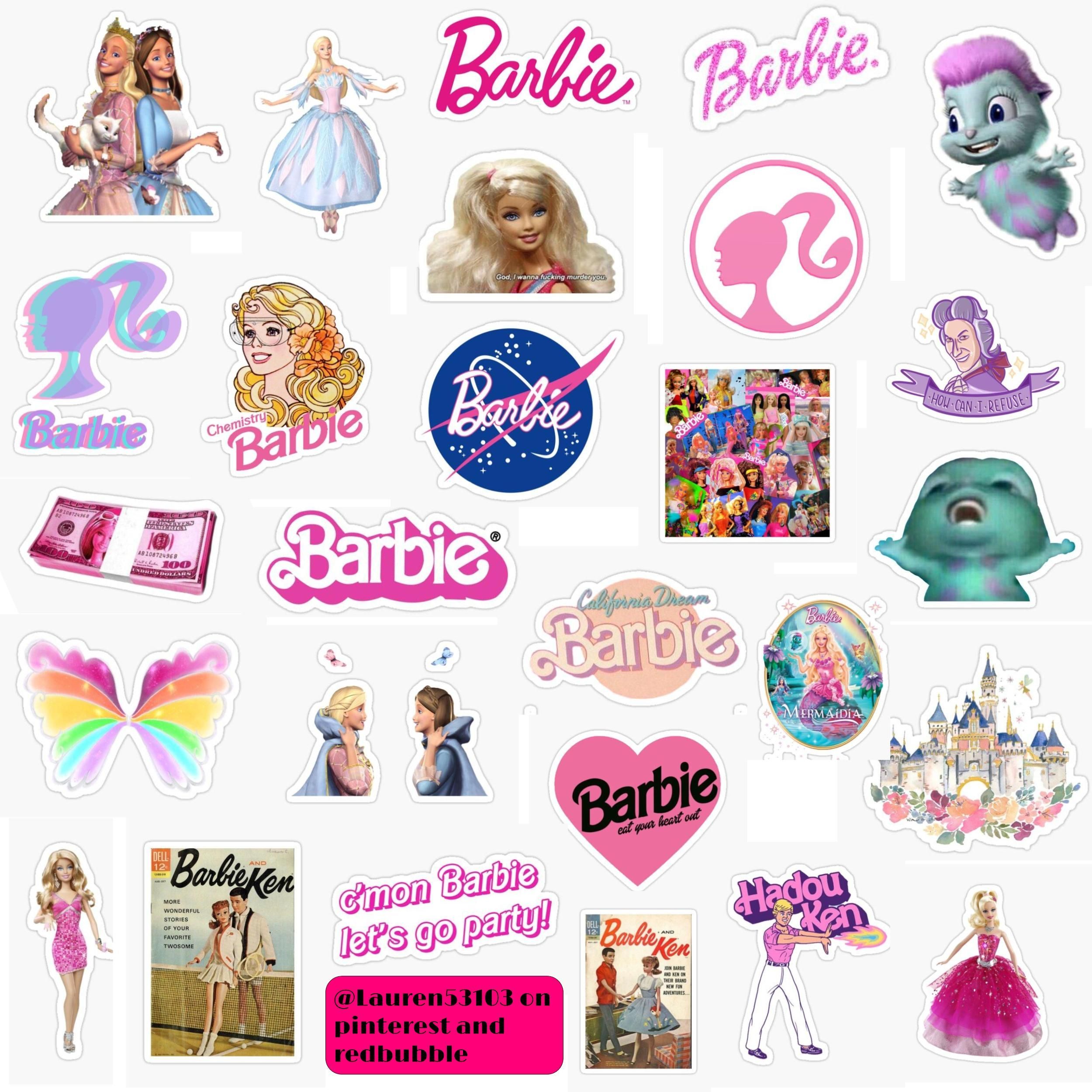 Barbie Stickers In 2020 Print Stickers Printable Stickers Girl Stickers