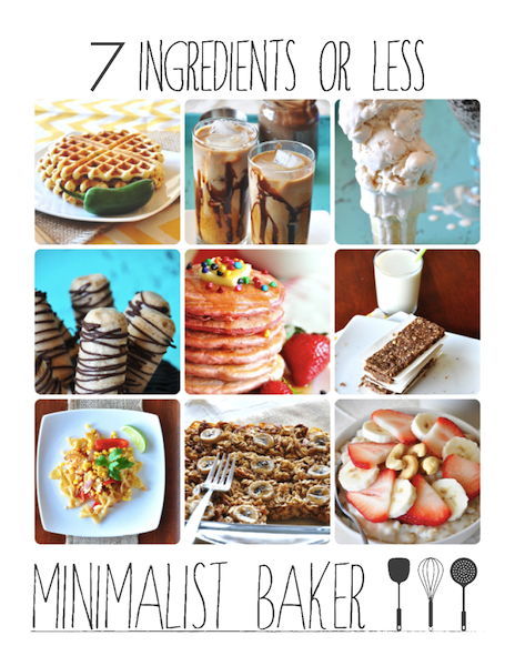 7 ingredients or less - Free E-Cookbook