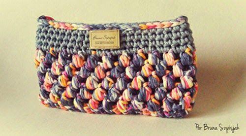 Aprendiz de Crocheteiras: Receita: Carteira de Malha   Eurofios ...