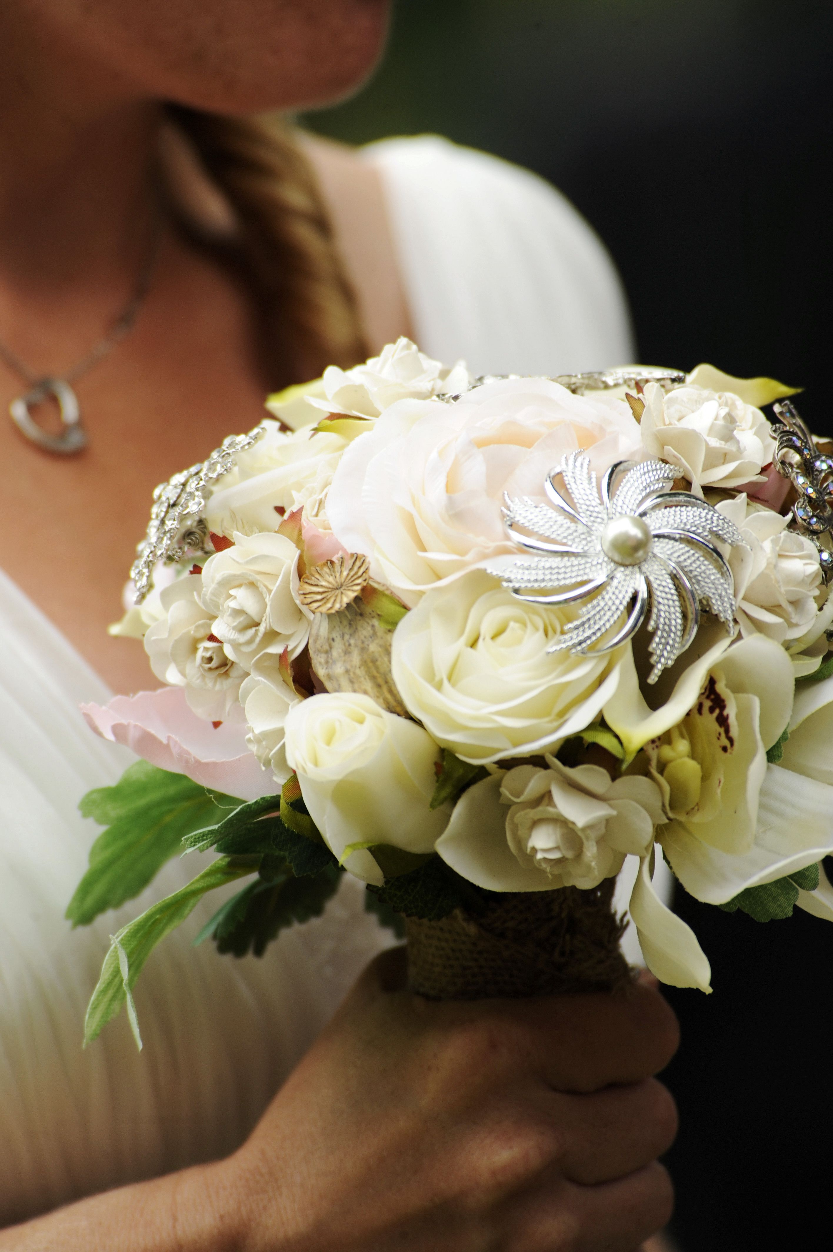 Gorgeous Wedding In France Nude Shade Theme Made Using Silk Flowers