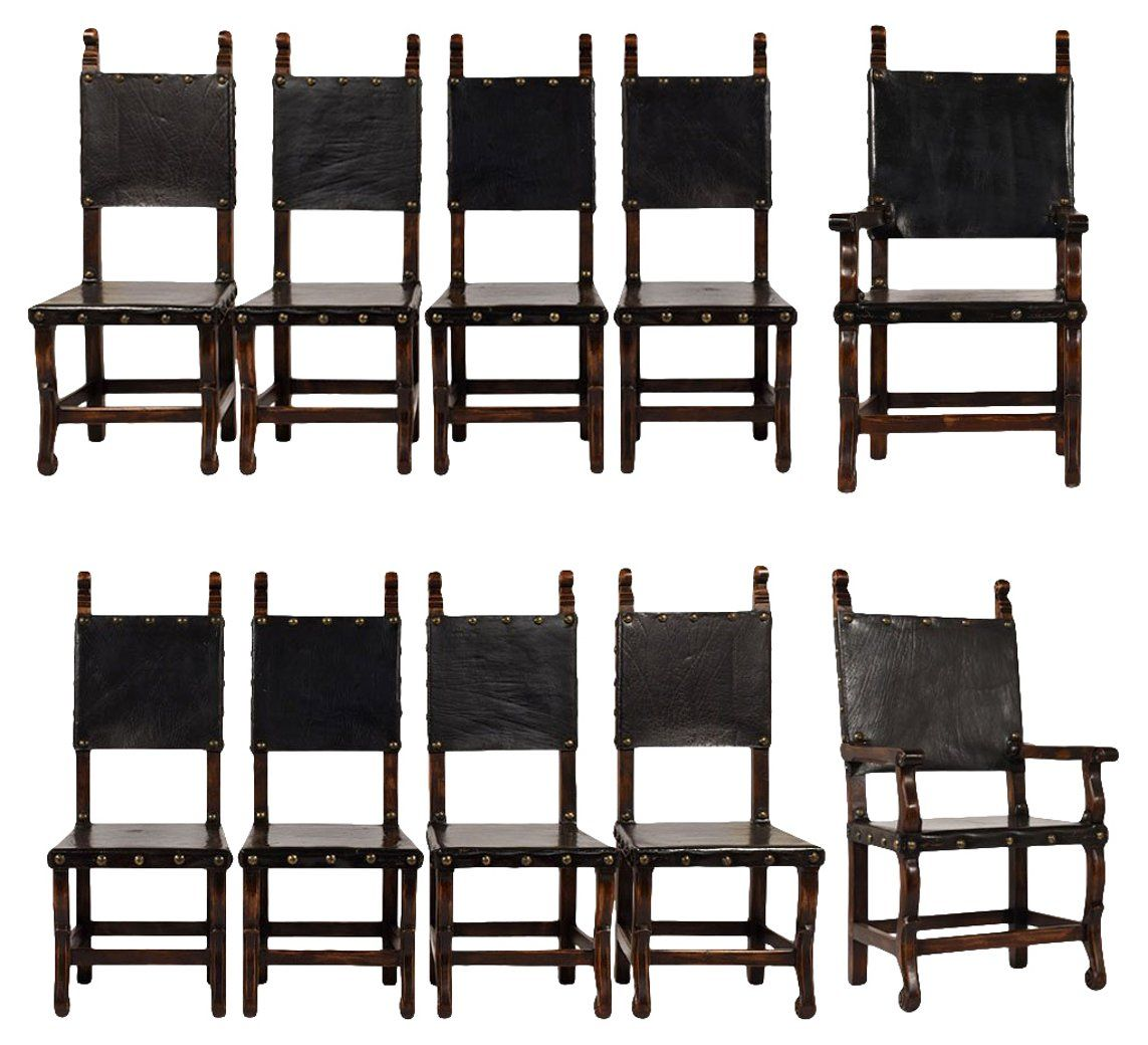 Set Of 10 Spanish Colonial Dining Chairs Dining Chair Sets Dining Chairs Dining Room Furniture One Kings Lane Colonial D Dining Chairs Dining Chairs For Sale Dining Room Chairs