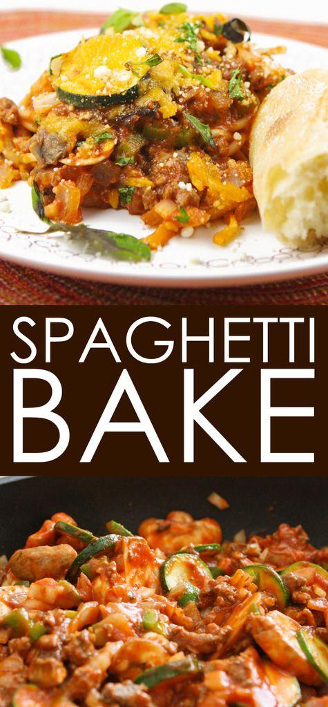 Spaghetti Bake | Easy, delicious weeknight pasta dinner!