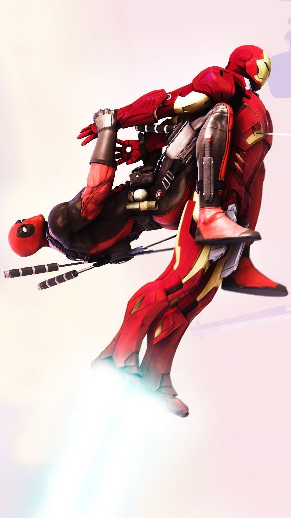 Iron Man With Deadpool IPhone Wallpaper in 2020 Iphone