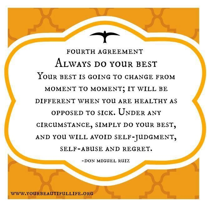 The Four Agreements Always Do Your Bestesnt Mean We Have To