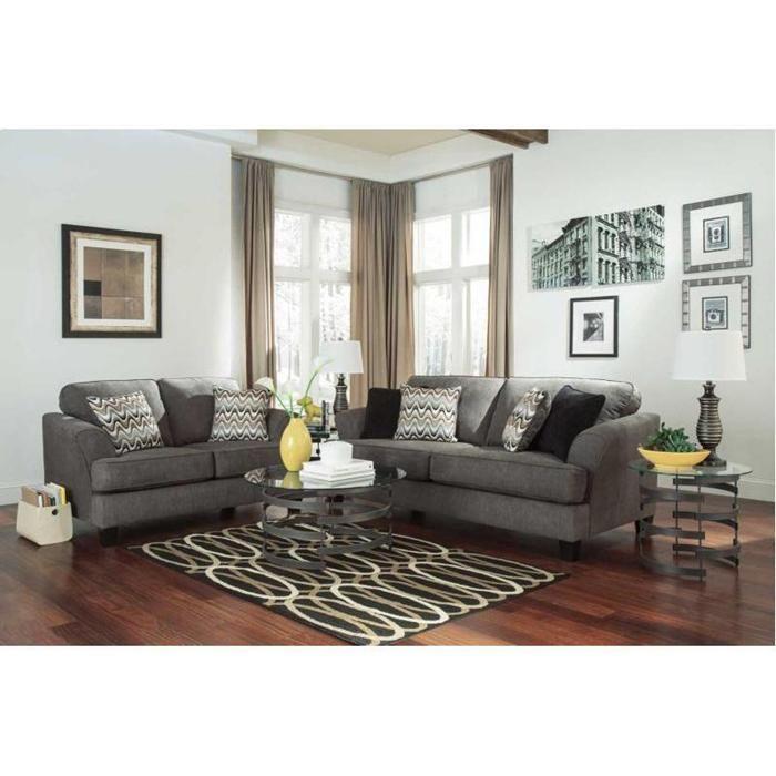 Gayler Sofa And Loveseat Set In Doralin Gray Living Room Red Living Room Remodel Living Room Sets