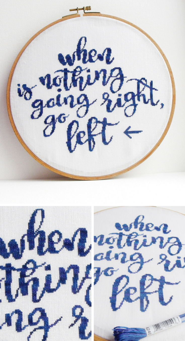 Funny cross stitch pattern with adult quote cross stitch modern