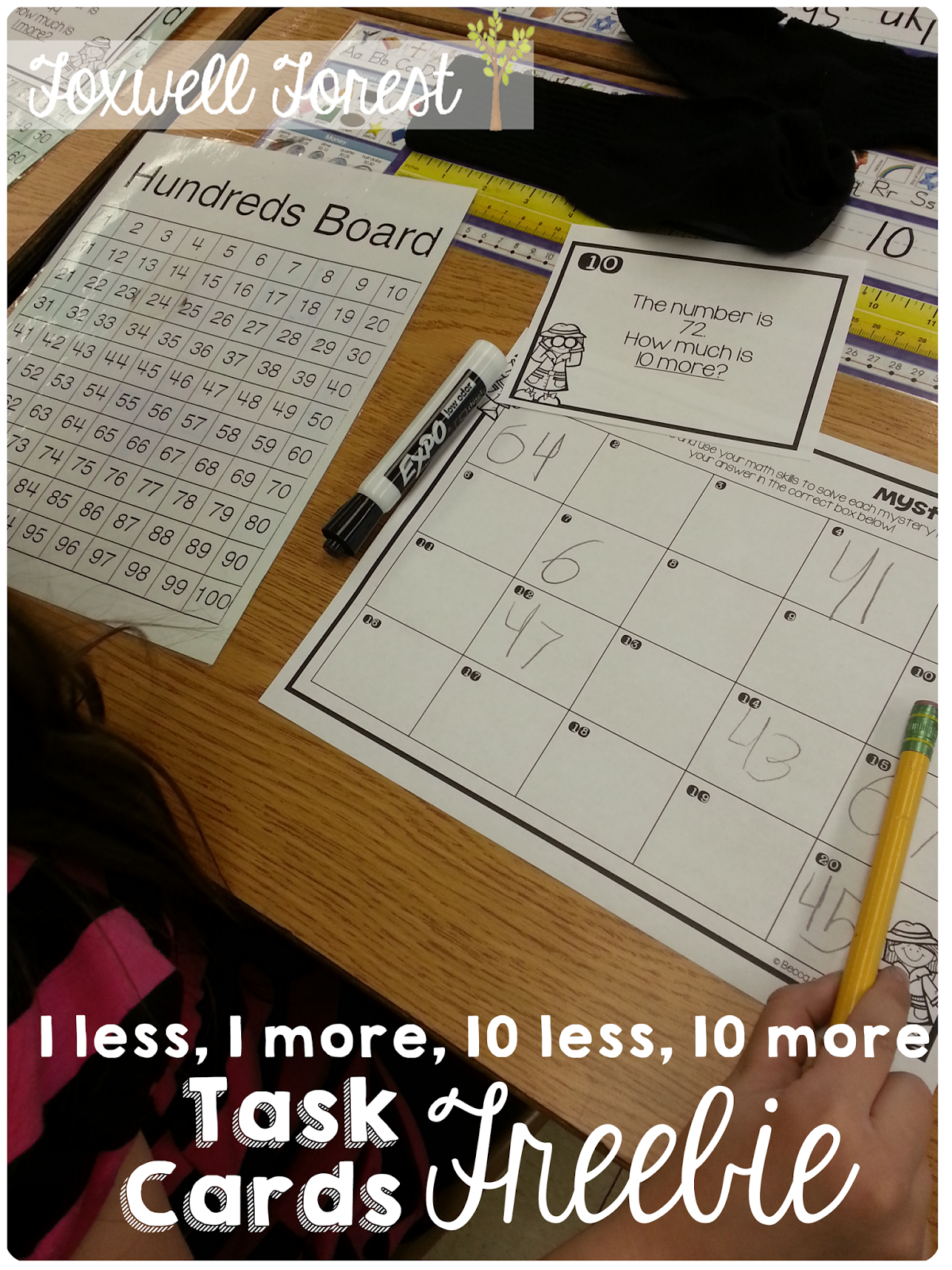 Hundreds Chart More Or Less Song And Freebie A Fun Way To Teach 1 Less 1 More 10 Less And