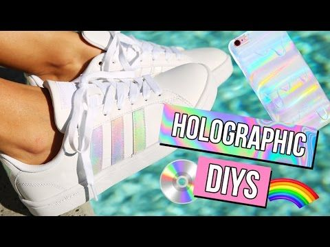 a3adb0224236 DIY Holographic Iridescent Shoes! Adidas-Inspired! - YouTube ...