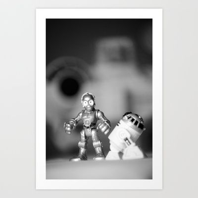R2D2+&+3CP0+with+the+Millennium+Falcon+Art+Print+by+Macmillen+Photography+-+$38.48