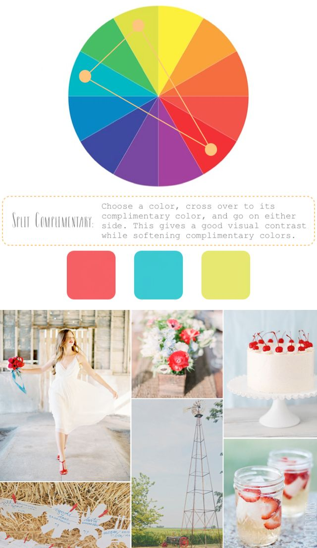 How to create color palettes wedding create color - Split complementary colors examples ...