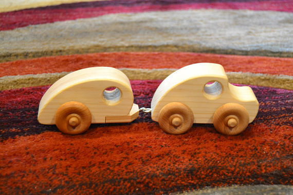 Handmade Wooden Car And Trailer Wooden Car Wooden Toys Wooden Toy Cars