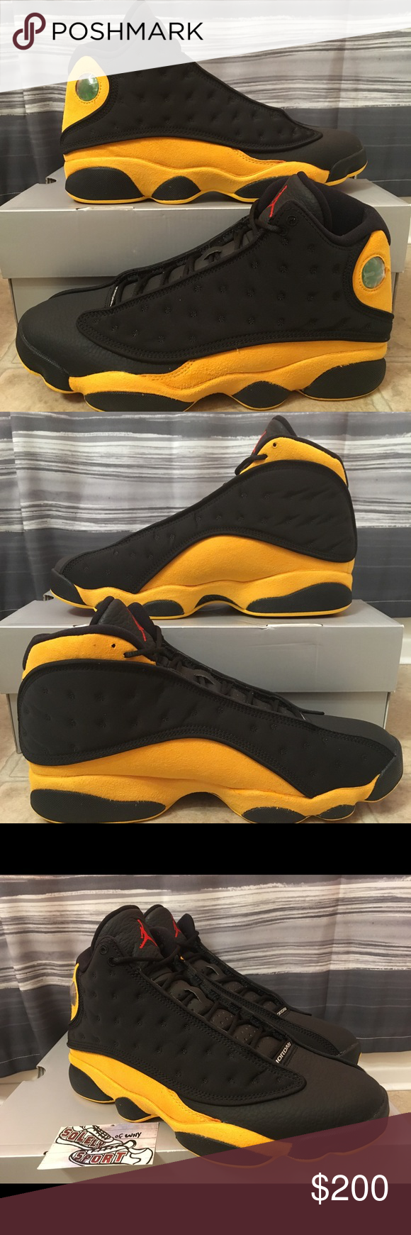 796246155a0 Air Jordan 13 XIII Melo Class of 2002 Yellow Black Brand - Air Jordan Style  -