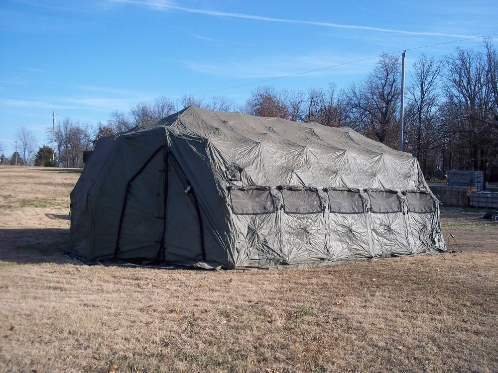 MILITARY TENT DRASH ARMY SURPLUS 14x30 5XB USED HUNTING CAMPING & MILITARY TENT DRASH ARMY SURPLUS 14x30 5XB USED HUNTING CAMPING ...