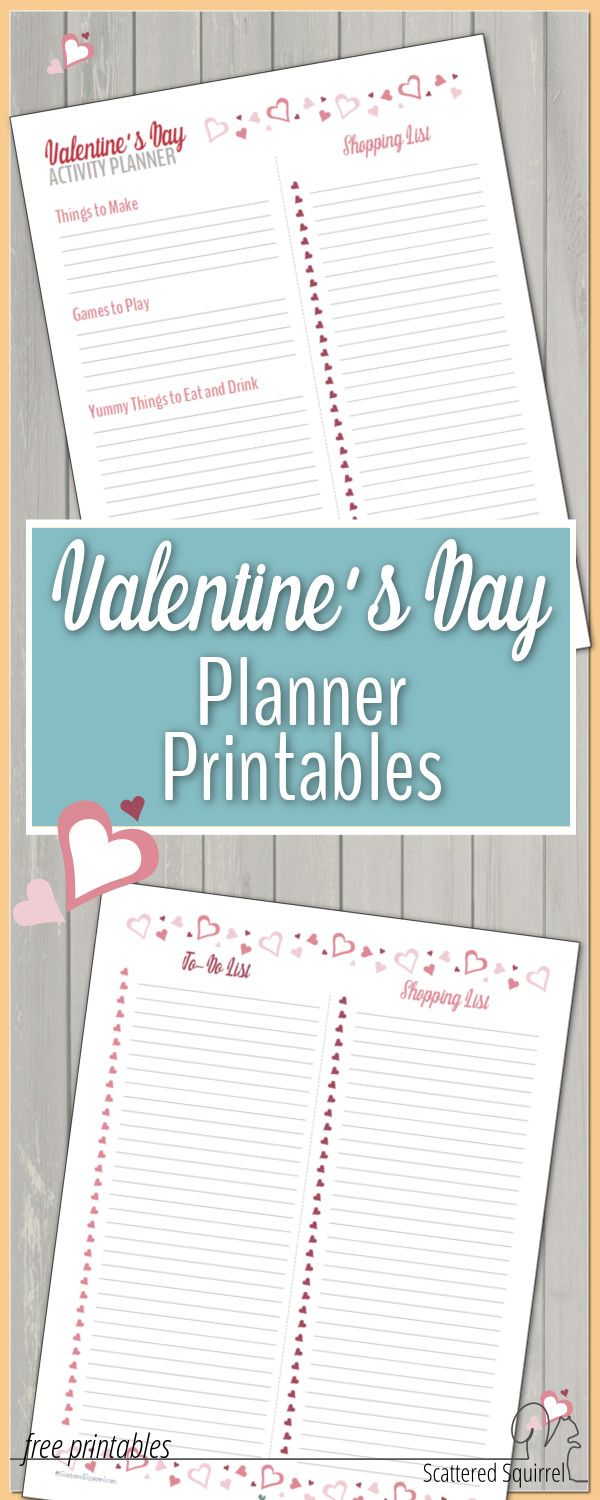 Have Some Valentine Fun With ValentineS Day Planner Printables
