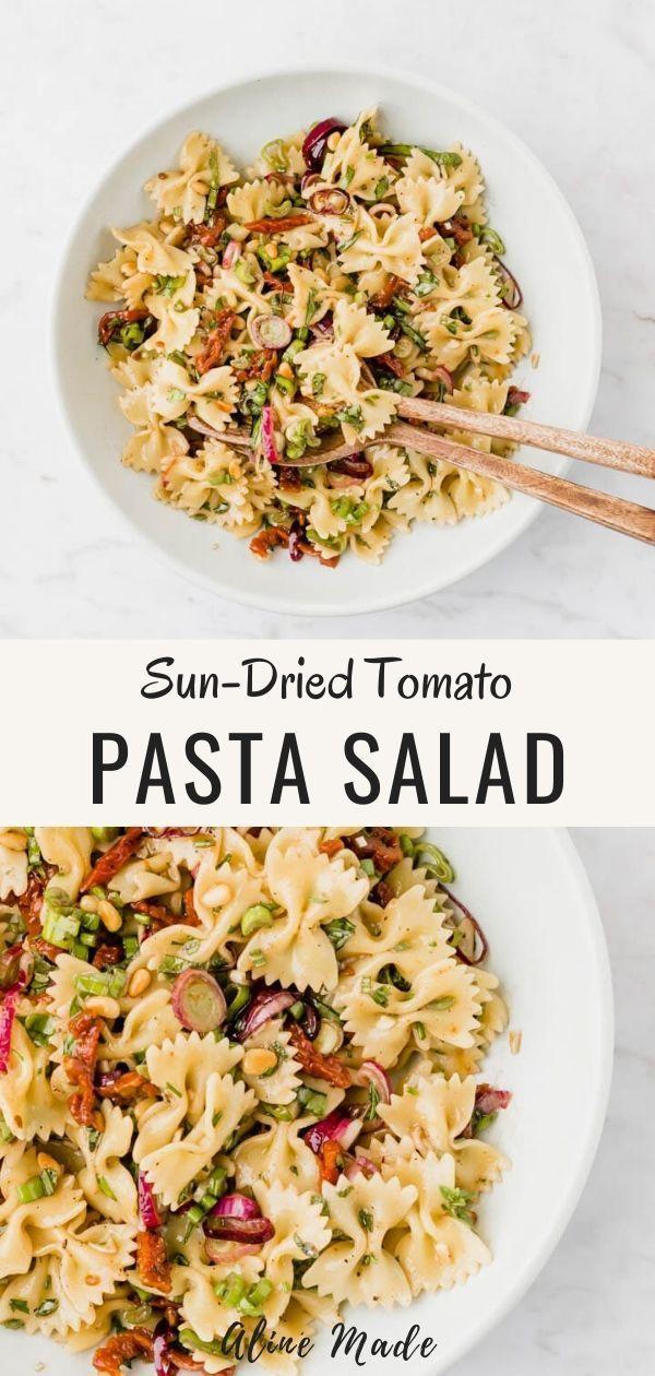 Veganer italienischer sonnengetrockneter Tomaten-Nudelsalat  – Pasta Recipes