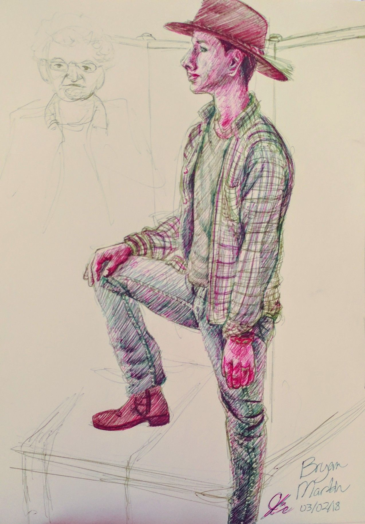 Figure drawing by jace chambers traditional art figure