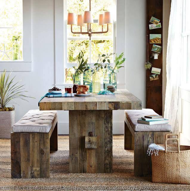 Mesa rustica | Decoracion | Cocinas rústicas, Decoración de unas y ...