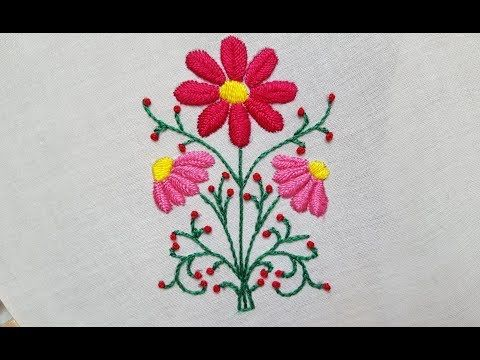 Fish Bone Stitch Hand Embroidery Fishbone Stitch Design For