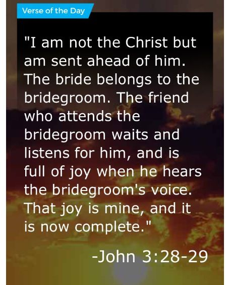 John 3 28 29 Verse Of The Day Verse Day