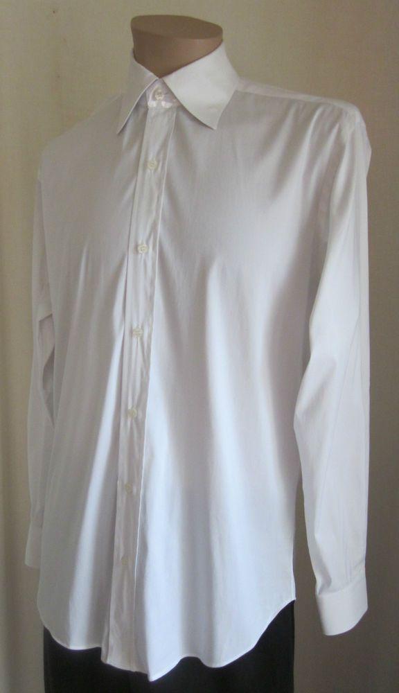 New men/'s shirt dress formal fly front long sleeve prom wedding white