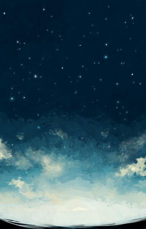 iPhone 5 Wallpaper Night Starry Sky Nature desktop