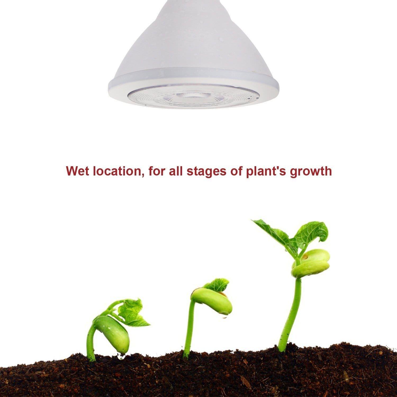 1PACK/2PACK #Wet Location#16.5W PAR38 LED Plant Grow Light Bulb,Full ...