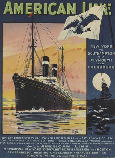 Sea Boat Ship Clyde Shipping Steam Ocean Liner Medium Metal Tin Sign