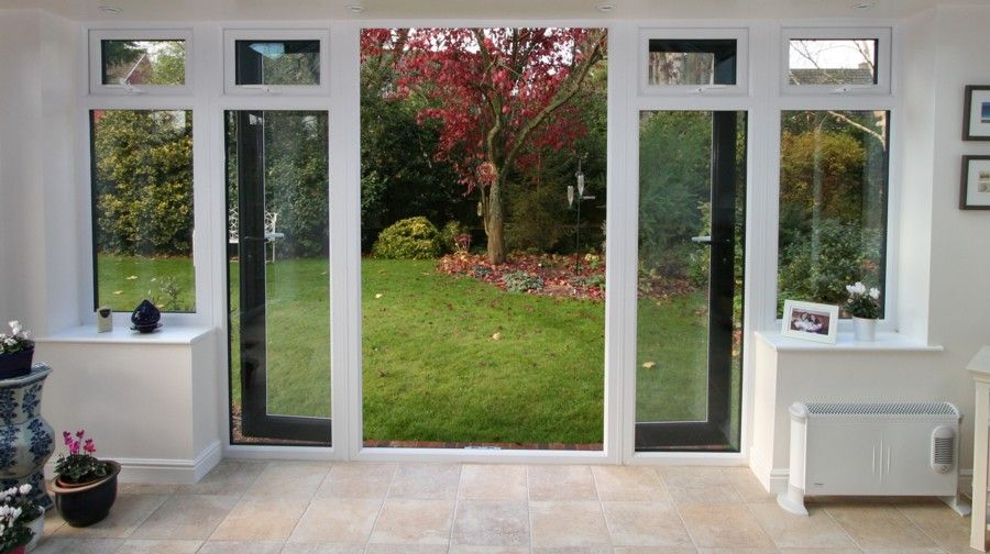 upvc french doors with side windows - Google Search