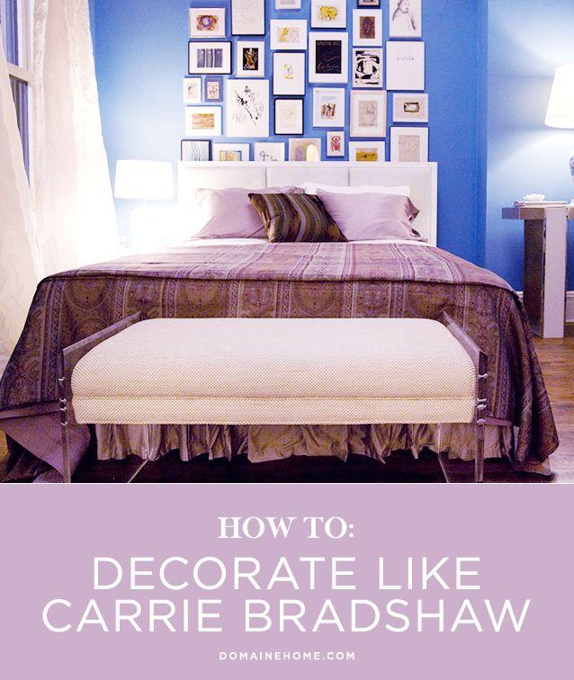 how to decorate like carrie bradshaw pinterest w nde schlafzimmer und neue wohnung. Black Bedroom Furniture Sets. Home Design Ideas