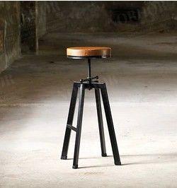 European retro industrial design wrought iron chairs bar stools ...