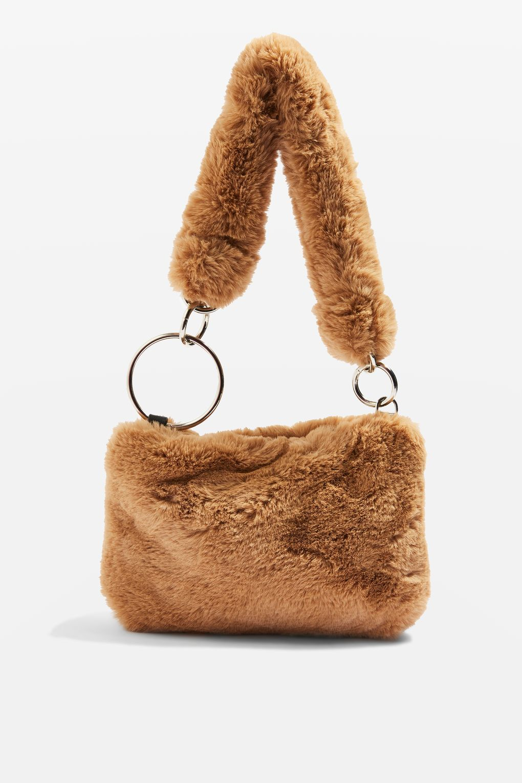 2e2a9c6b6d Teddy Faux Fur Shoulder Bag - Bags   Purses - Bags   Accessories ...