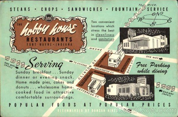 Hobby House Restaurant Fort Wayne Indiana My places Pinterest