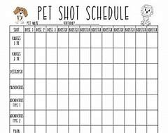 This is a photo of Astounding Puppy Vaccination Chart Printable