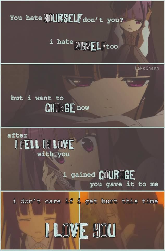 """"""" Love is everything """" Anime: Inu x Boku SS  Maybe one day ^^"""