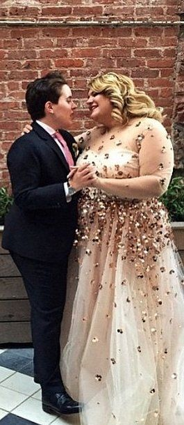 This Is Why Plus-Size Blogger Nicolette Mason Chose a Sheer Wedding ...