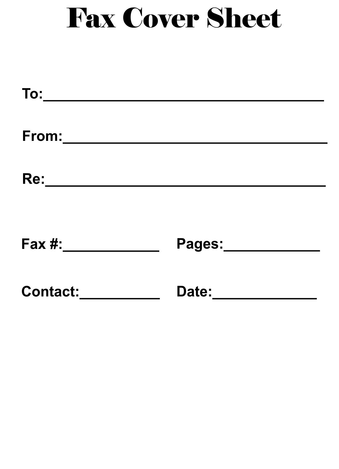 Free Printable Fax Cover Sheet Template Pdf Word Excel In 2020