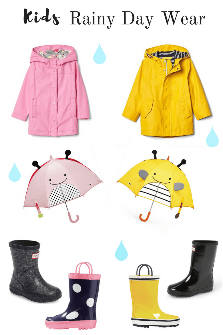 The Cutest Rainy Day Outfit For Girls And Boys Including