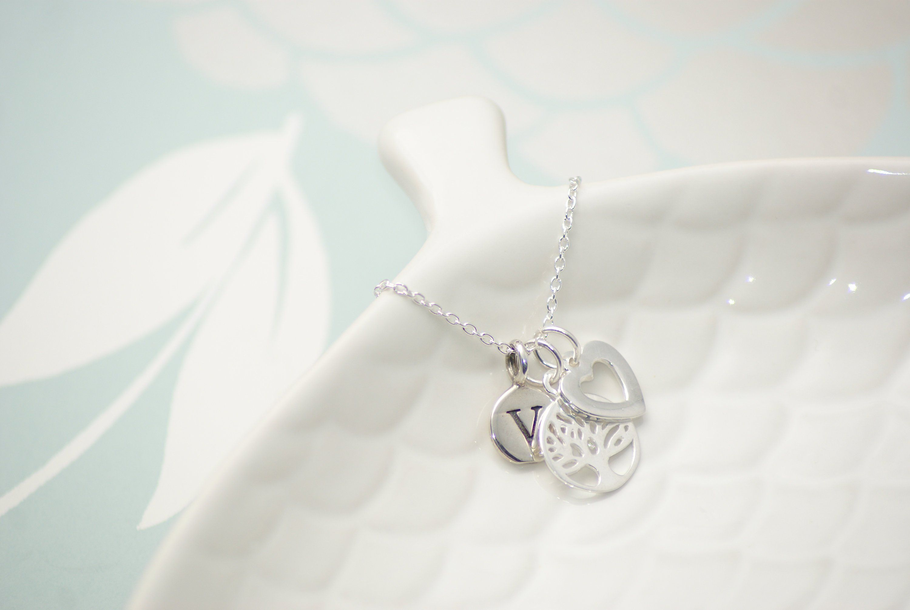 e4faa1e614d17 Tree of Life Necklace with Personalised Initial - Personalised ...