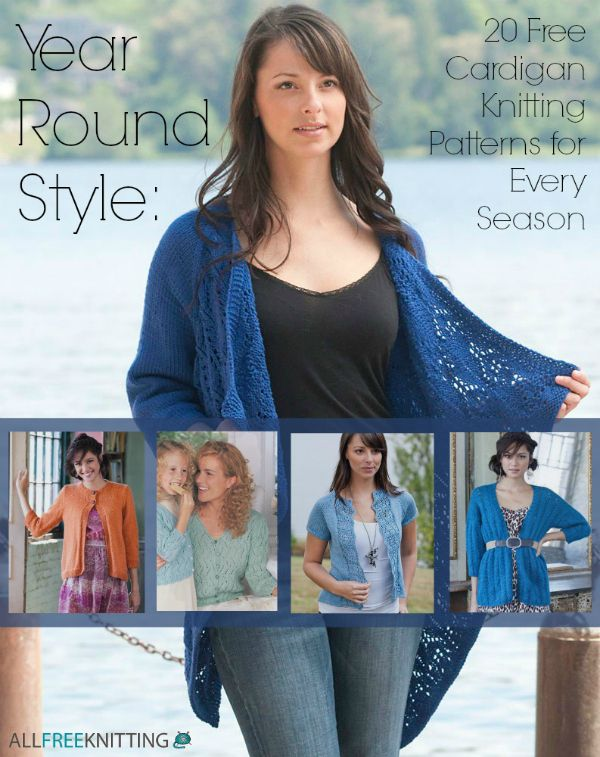 54653bde6 Year Round Style  20 Free Cardigan Knitting Patterns for Every Season.