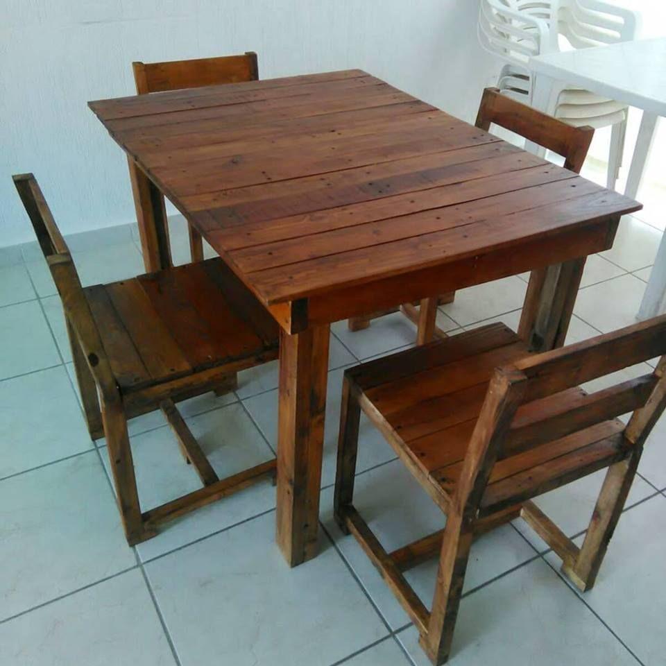 Wooden pallet dining furniture set 99 pallets