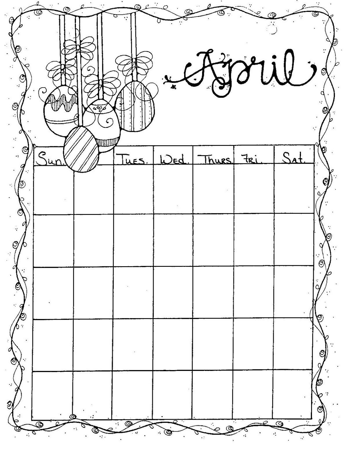 Connie S File Cabinet Monthly Blank Calendar Pages For A
