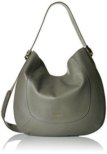 Furla Luna Medium Hobo Bag Bags Shoulder Leather Nylon Lining