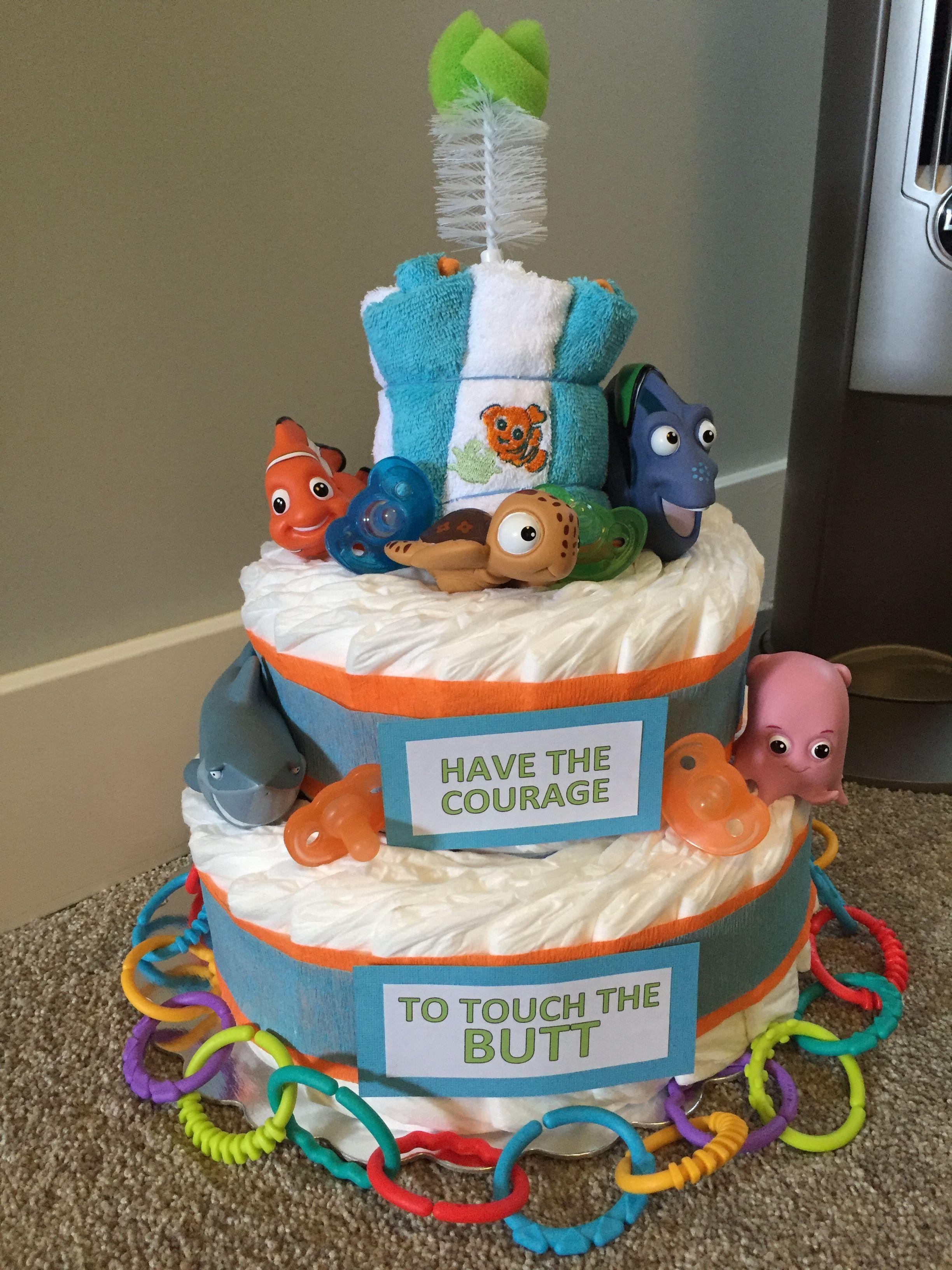 Finding Nemo Diaper Cake Diaper Cakes Pinterest Baby Shower