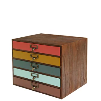 Interior Palette Letter Case A4 Side Five Steps Comet Comet Storing Box Drawer Wooden Paulownia Wood Materials File Case Desk Tray Wood Chest Desk Tray Wood