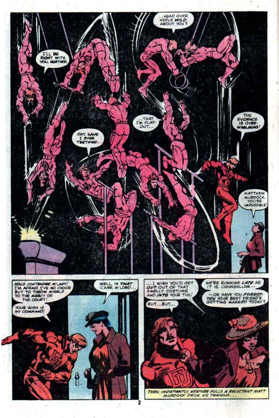Daredevil V1 166 Marvel Comic Book Page Art By Frank Miller